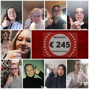 Leerlingenraad zamelt 245 euro in voor Rode Neuzen Dag