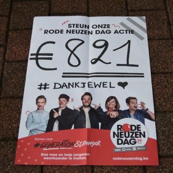 821 euro ingezameld voor Rode Neuzendag!