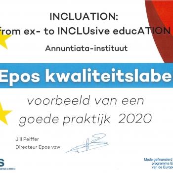 EPOS-kwaliteitslabel voor het afgelopen project INCLUation: from ex- to INCLUsive educATION